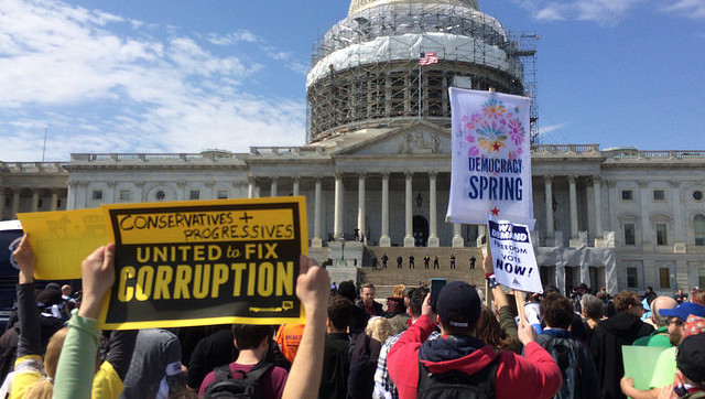 Mass Arrests at Democracy Spring Civil Disobedience Action at U.S. Capitol